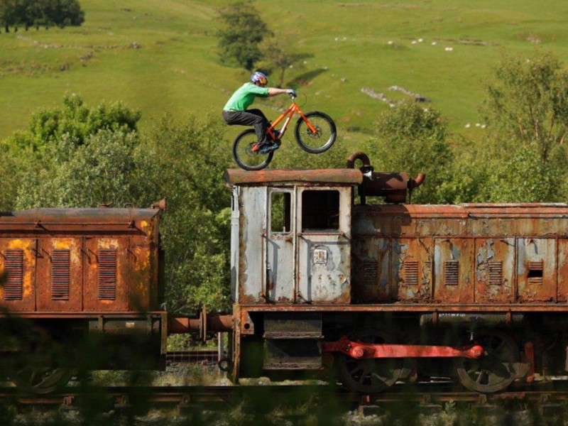 Rusting metal and crumbling masonry are the backdrop for Danny MacAskill's latest vid