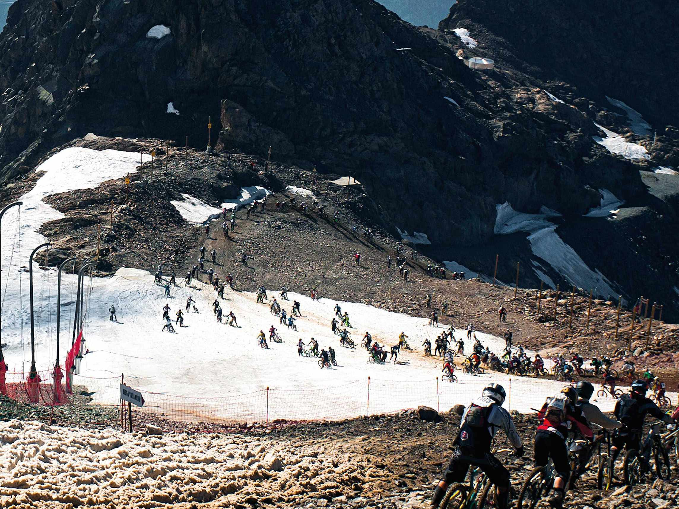 Riders can expect every type of terrain on the Alpe d'Huez Megavalanche