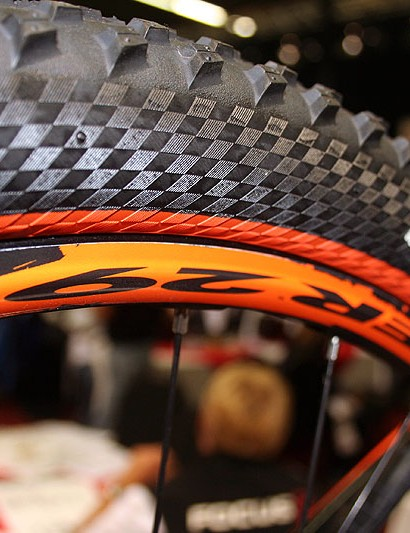 Fulcrum's Red Power 29er wheelset and colour coordinated Continental tyres