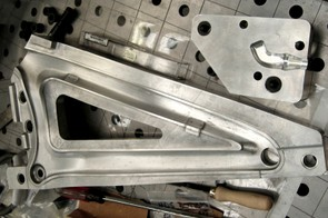 The machined mould for the new rear triangle