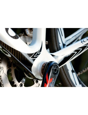 Power is transferred  instantly through the chunky bottom bracket