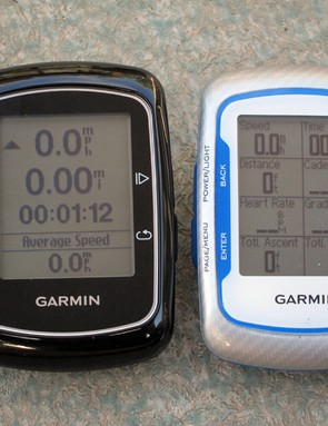 The new Garmin Edge 200 uses the same case as the Edge 500. The display fields aren't customizable and the information provided is limited but what's there is easy to read even in bright sunlight