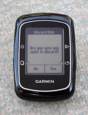 On-screen prompts guide you through most of the operations on the Garmin Edge 200