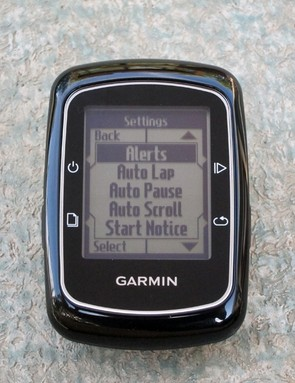 The setup menu is highly intuitive. Garmin didn't bother to include a manual with our test unit but we haven't felt the need for one yet, either