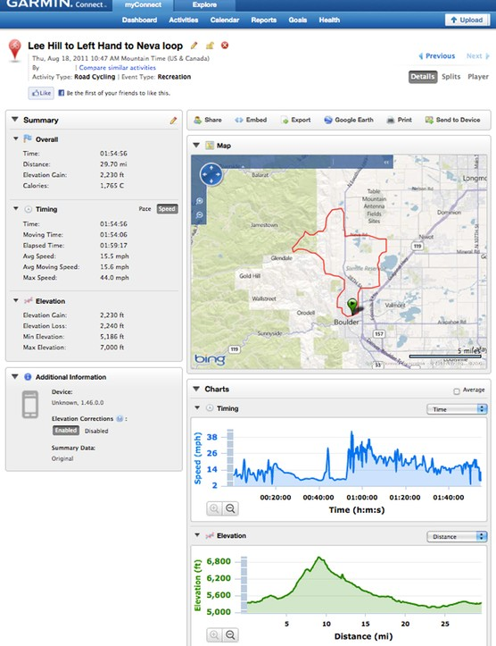 Perhaps the most appealing feature of the new Garmin Edge 200 isn't what you can see on it during your ride but what you can do with the information afterward. Upload your route to GarminConnect or Strava then analyze the data or share the info with your friends