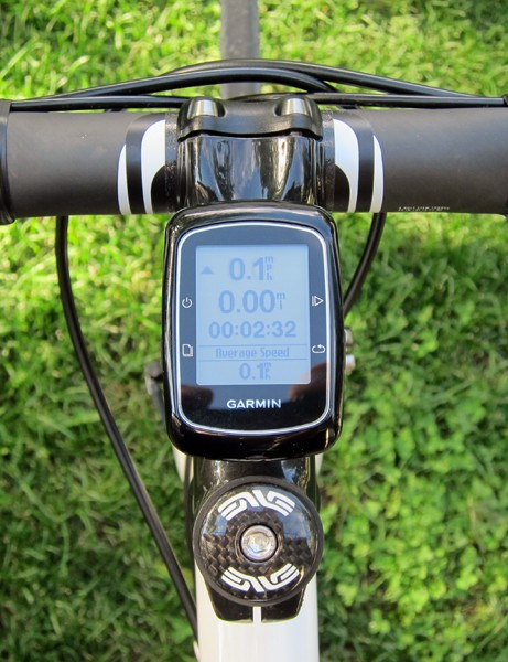 The Garmin Edge 200 may be the least expensive cycling computer in the company's lineup but you wouldn't be able to tell by its upscale appearance on the bike
