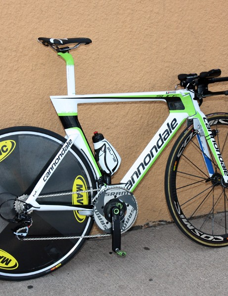 Cannondale broke out their new Slice time trial frame for Ivan Basso (Liquigas) at the USA Pro Cycling Challenge