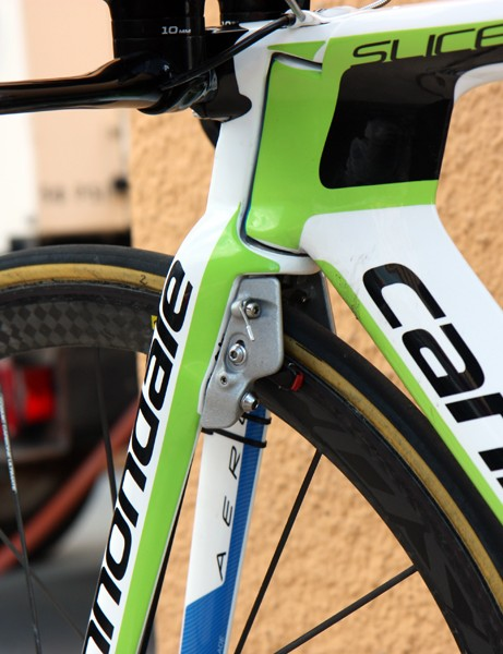 Brakes are neatly integrated on the new Cannondale Slice