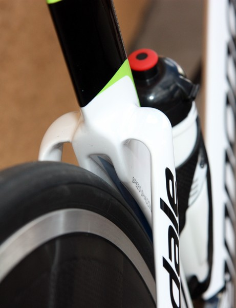 Note the pocket inside the wheel cutout on Cannondale's new Slice