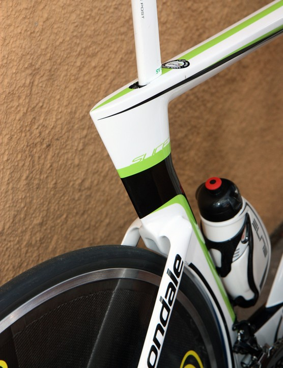 The seat cluster on Cannondale's latest Slice looks especially sleek