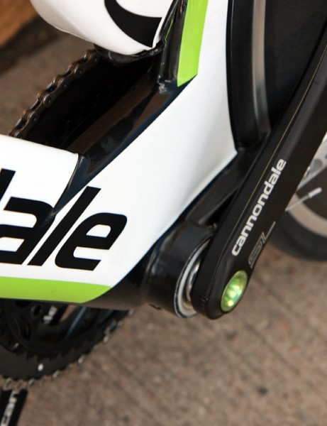 Cannondale looks to have retained the company's long-running BB30 integrated bottom bracket for the new Slice