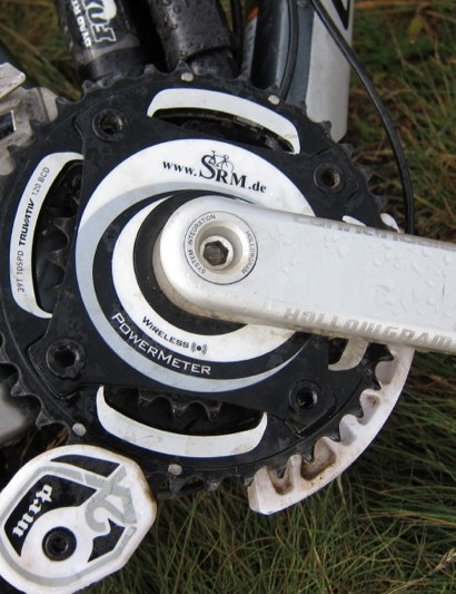SRM on a Cannondale Jekyll, um, no power needed for the chainless stage
