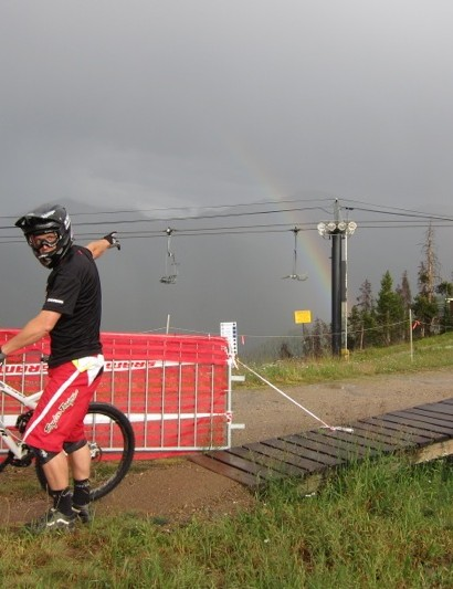 SRAM's Tyler Morland, thought the weekend was all rainbows and unicorns