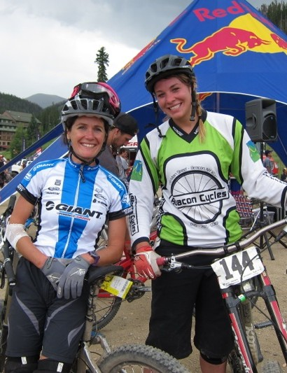 Kelli Emmett and Rebecca Gardner: the epitome the endurance versus gravity racer