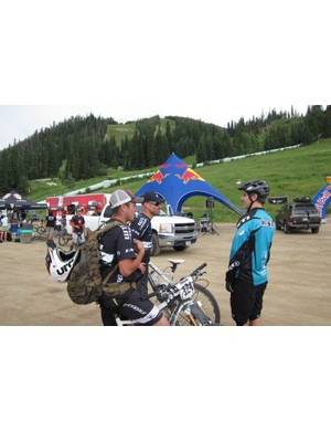 Weir and Cruz talk shop with Yeti's Mike West