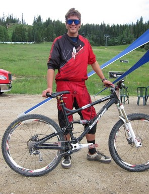 Brian Buell, Geronimo-Banshee, took second place overall at the first ever Trestle All-Mountain Enduro