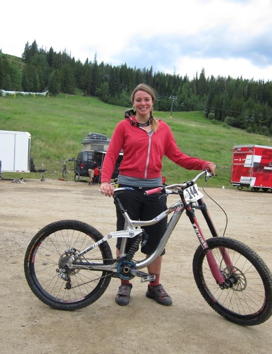 Rebecca Gardner, Becon Cycles, took second place overall at the first ever Trestle All-Mountain Enduro