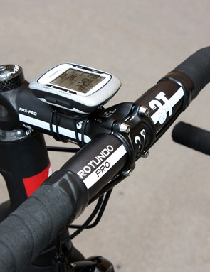 Like many pros, Tom Danielson (Garmin-Cervélo) uses an all-aluminum cockpit for better durability in crashes than carbon setups but also to help the bike hit the UCI-mandated minimum weight limit.