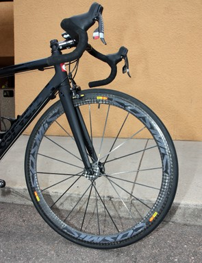 Mavic Cosmic Carbone Ultimate wheels are a popular choice for sponsored riders for their appealing mix of light weight and good aerodynamics but Garmin-Cervélo will have a wide range of wheels to choose from for the USA Pro Cycling Challenge.