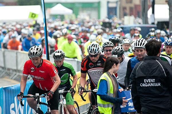 The Etape Hibernia got off to a mass start in Ennis, County Clare