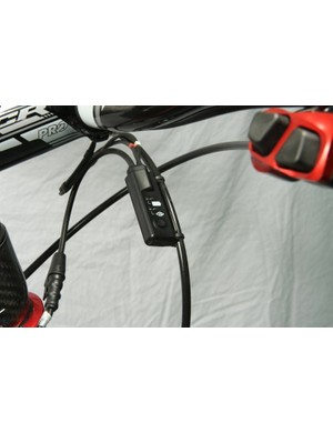 The K-Edge tuning group uses Shimano's harness and remote satellite shifters