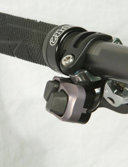 The shifters mount to the brake lever clamps