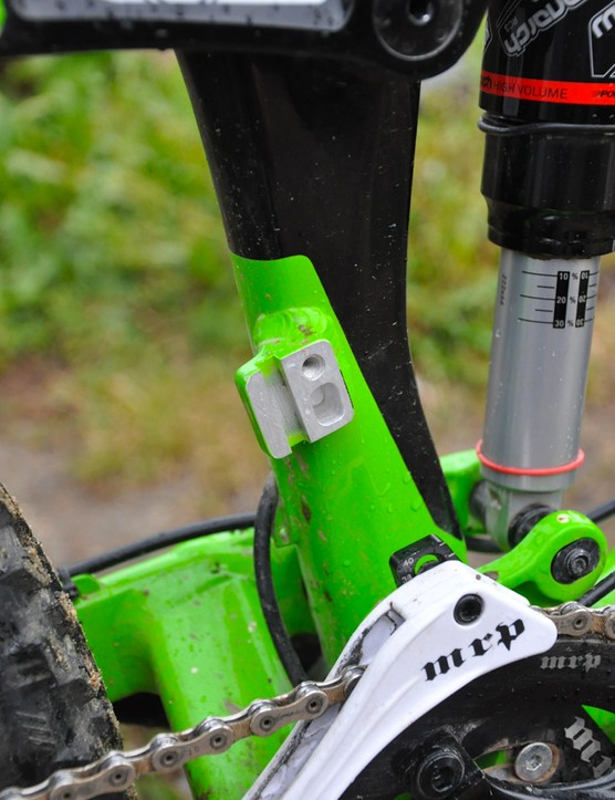 Though Schnell usually opts for a 1x10 setup, the Slash offers the option to run a direct-mount front derailleur