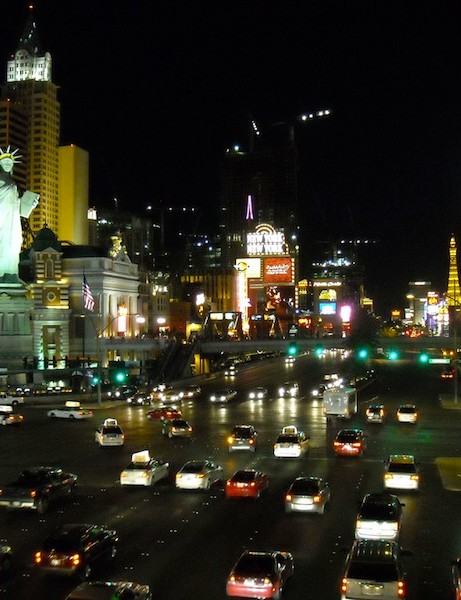 Glitz, glimmer and lots of cars, but Sin City is working on its bike friendliness