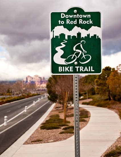 The Red Rock bike trail
