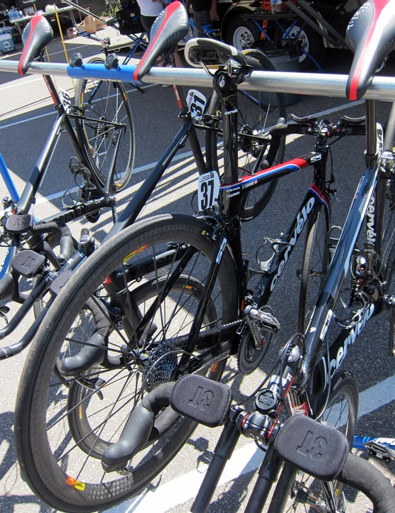 Dave Zabriskie (Garmin-Cervélo) opted for a 28-tooth large cog on his spare Cervélo S5 setup