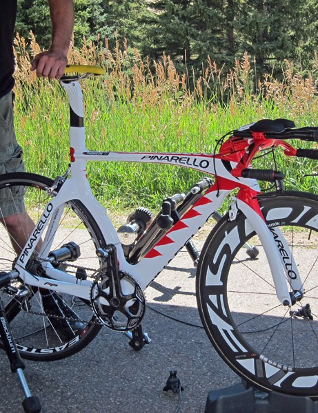 Bissell riders stuck with their usual Pinarello Graals for the uphill time trial