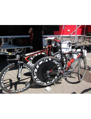 BMC ran a mix of full-blown time trial and hybrid road/time trial setups for the stage 3 time trial up Vail Pass
