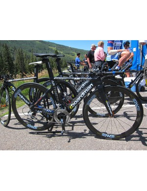UnitedHealthcare riders stuck to their Boardman time trial bikes for stage 3