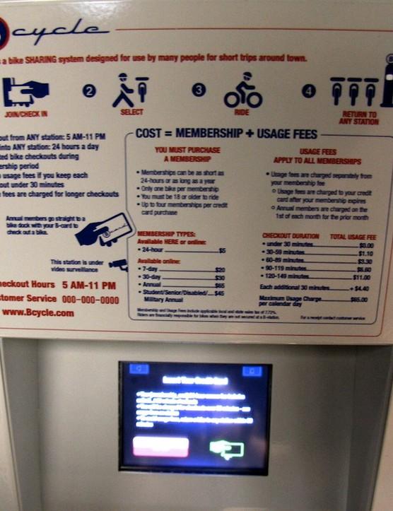 A B-Cycle kiosk