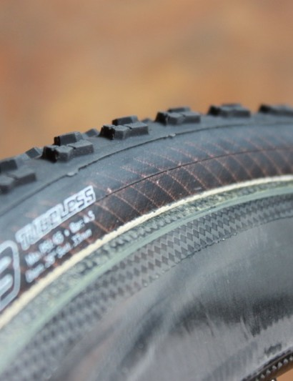 The tread is vulcanized to the casing