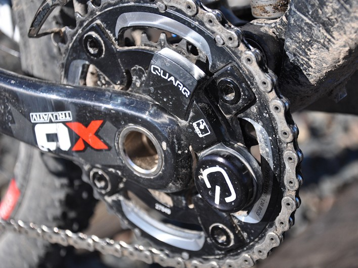 US racer Kelli Emmett (Giant Factory Off-Road Team) was using this prototype SRAM-Quarq mountain bike power meter at Winter Park in Colorado this weekend