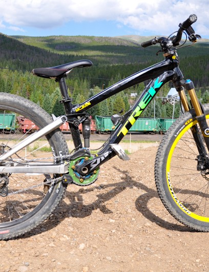 Not available in stores; McCaul rides one of only five custom Trek Slope frames