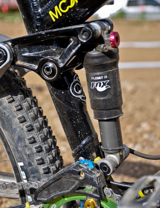 Fox Racing Shox provide a custom-built Float R shock, designed to take the abuse of going huge