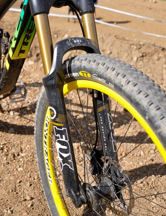 McCaul says his Fox 831 handles slopestyle just fine, bone-stock.