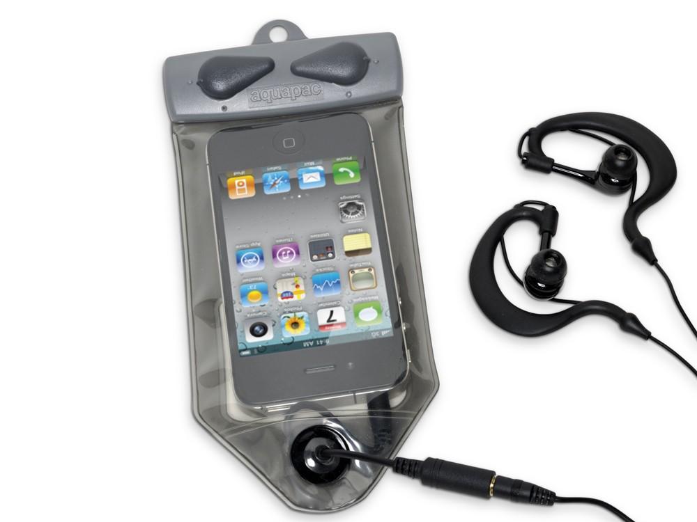 Aquapac Waterproof MP3 case and headphones