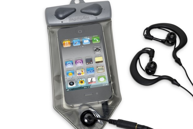 Aquapac Waterproof MP3 case and headphones