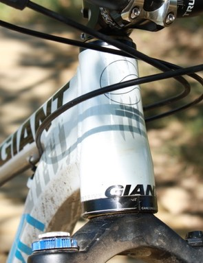 Giant's OverDrive head tube will accept a larger 1-1/4in upper diameter steerer next year
