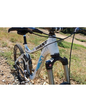 The OverDrive head tube flows into large shaped top and down tubes