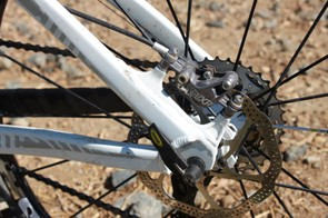 Note how the weld bead passes over the top and around the seatstay above the direct post-style brake mount