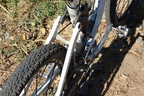 The back of the bike offers ample clearance for 2.3in tires