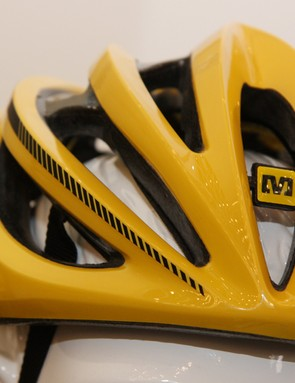 The interior channels on the new Mavic Plasma SLR helmet look fairly deep, which bodes well for ventilation