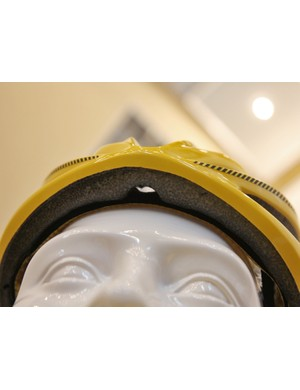 A small notch cut out of the forehead of the Mavic Plasma SLR helmet should help dry out the brow padding during rides