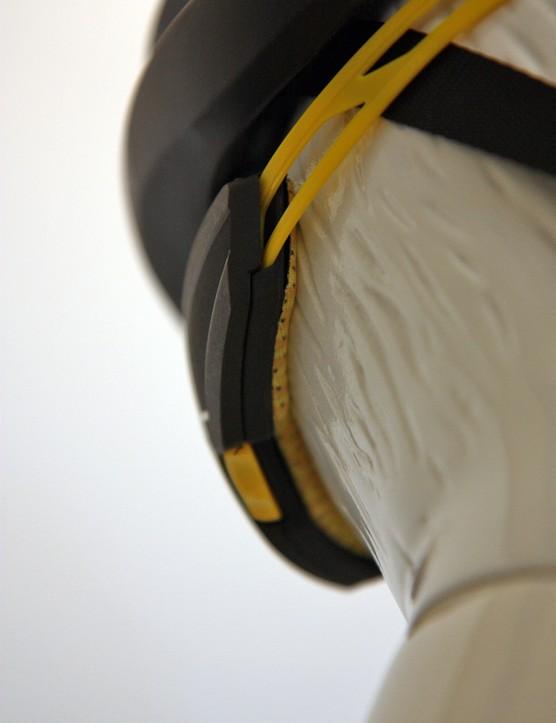 The retention system is padded on Mavic's new helmet range