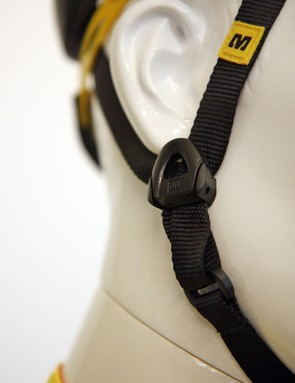 Mavic say the separate chin webbing helps the straps lay flatter on a rider's face. We still see about the same level of twist as usual, though