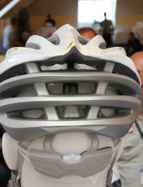 Nine exhaust ports on the Mavic Plasma helmet promise to suck out hot air